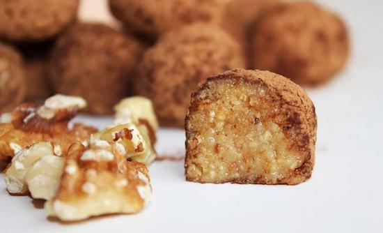 Домашние конфеты с грецким орехом