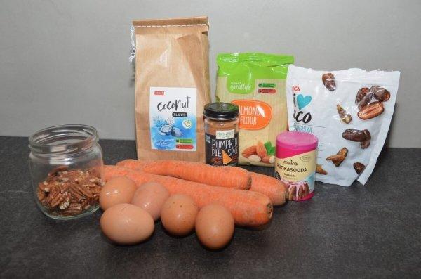 Нежный и сочный морковный кекс без сахара, без масла, молочных продуктов и глютена