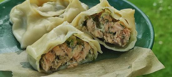 Рыба, спрятанная в тесто или рыбные манты